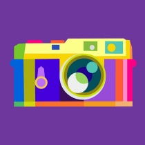 Flickr camera icon logo