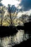 Lake backlighting. Stanwick Lakes. January 2014. By Geo_Z_