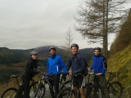 Mountain biking. Whinlatter Forest, the Lake District. March 2014. By Luc Girard-Madoux.
