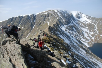 The crag to the hell. Hellvellyn, the Lake District. March 2014. By Lorenzo Bruscoli.
