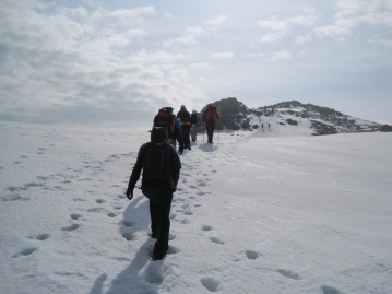 Heading to the top of England. Scafell, the Peak District. March 2014. By Jing Shi.