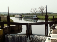 Whiston Lock over Nene River