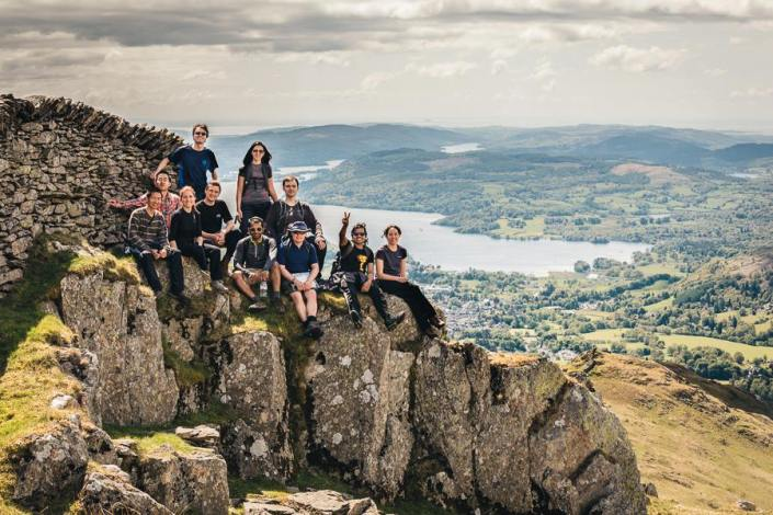 Vikas with Cranfield students in Lake District
