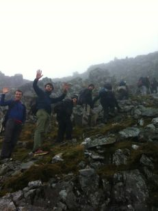 Pedro with friends at Snowdonia National Park